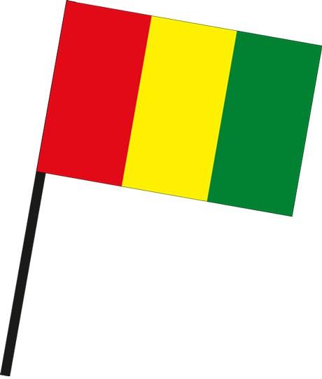 Guinea als Stockfahne
