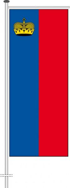Liechtenstein als Auslegerfahne