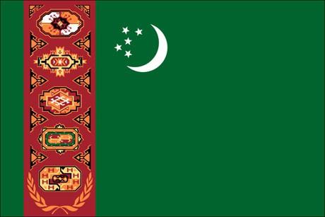 Turkmenistan als Fanfahne