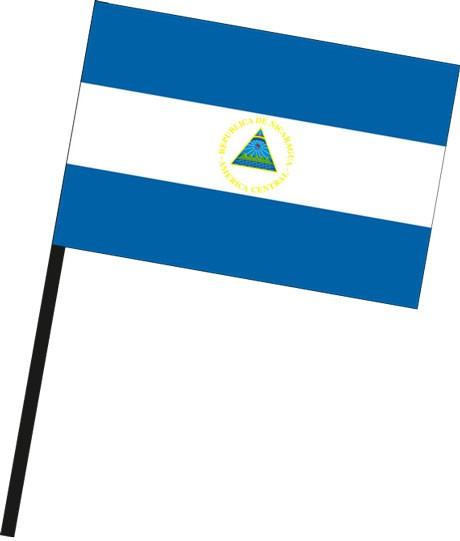 Nicaragua als Stockfahne