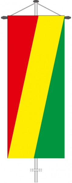 Kongo Brazzaville als Bannerfahne