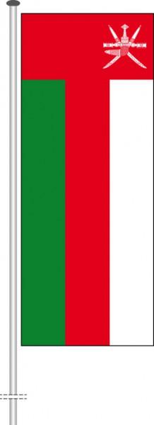 Oman als Hochformatfahne