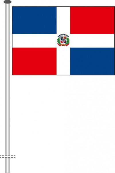Dominikanische Republik als Querformatfahne