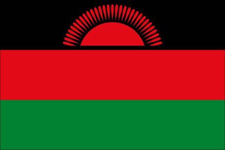 Malawi als Fanfahne