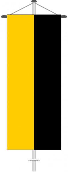 Sachsen-Anhalt - Streifenflagge als Bannerfahne