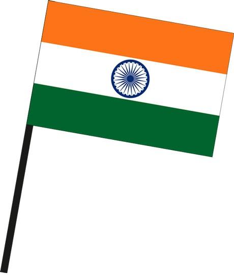 Indien als Stockfahne