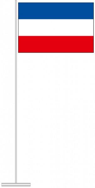 Schleswig-Holstein - Streifenflagge als Tischfahne