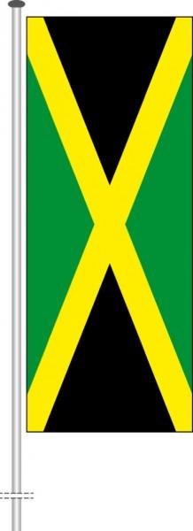 Jamaika als Hochformatfahne