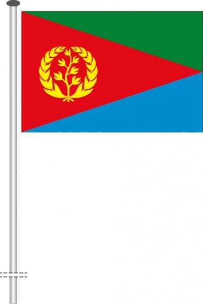 Eritrea als Querformatfahne