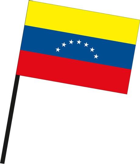 Venezuela als Stockfahne