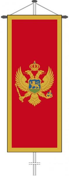 Montenegro als Bannerfahne