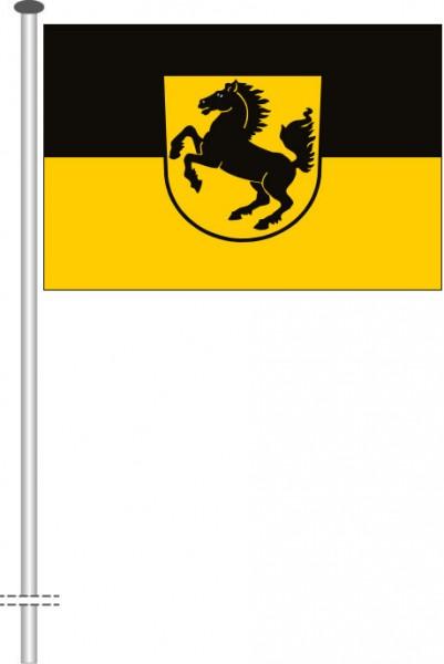 Stuttgart mit Wappen als Querformatfahne