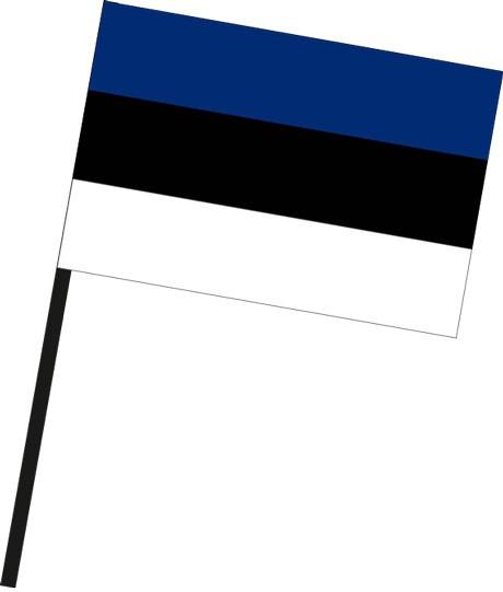 Estland als Stockfahne