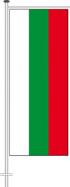 Bulgarien als Auslegerfahne
