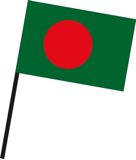 Bangladesch als Stockfahne