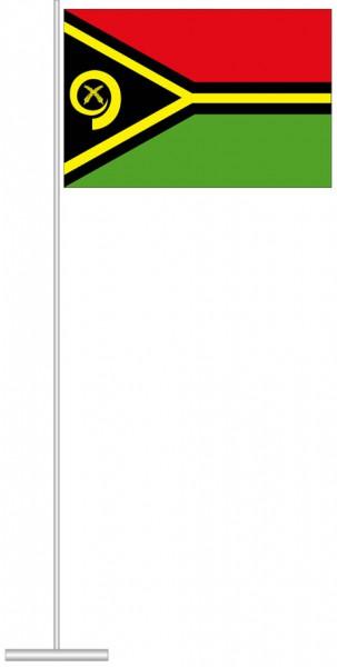 Vanuatu als Tischfahne
