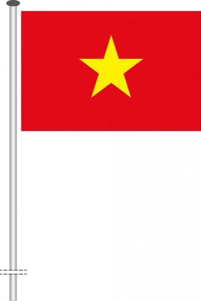 Vietnam als Querformatfahne