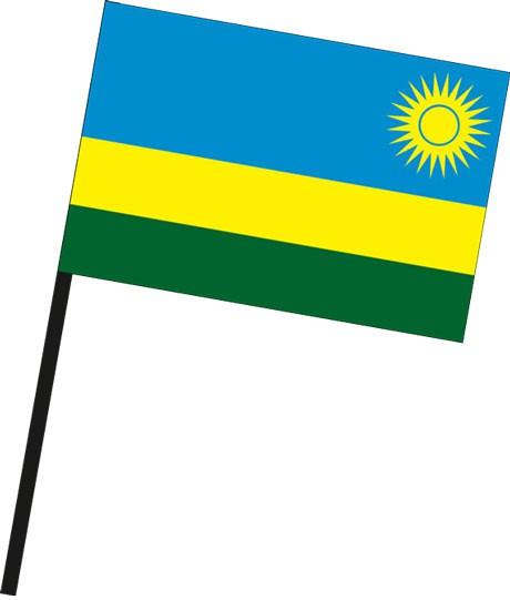 Ruanda als Stockfahne