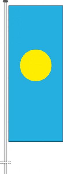 Palau als Hochformatfahne