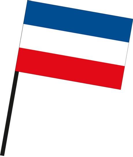 Serbien als Stockfahne