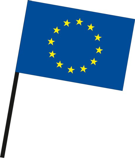 Europarat als Stockfahne