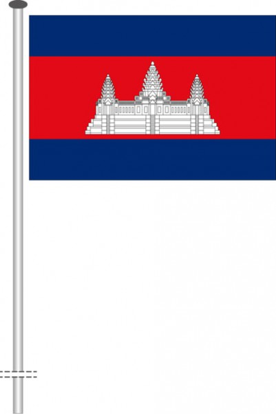Kambodscha als Querformatfahne