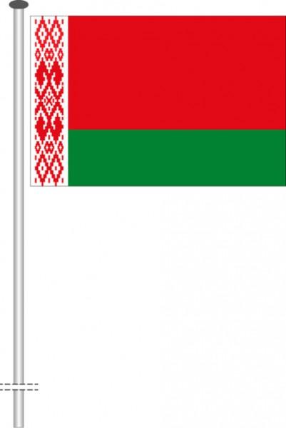 Weissrussland Belarus als Querformatfahne