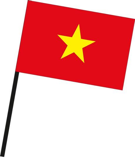 Vietnam als Stockfahne