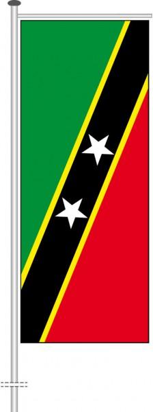 St. Kitts und Nevis als Auslegerfahne