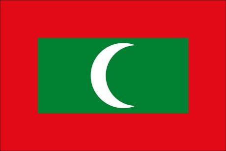 Malediven als Fanfahne