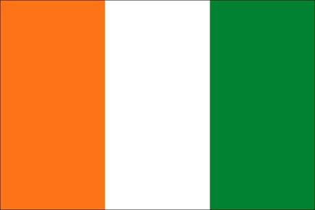 Elfenbeinküste als Fanfahne