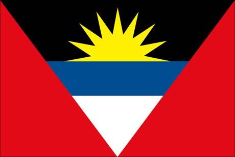 Antigua und Barbuda als Fanfahne