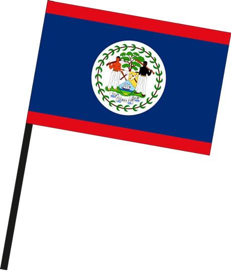 Belize als Stockfahne