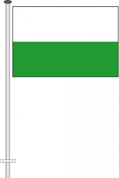 Sachsen - Streifenflagge als Querformatfahne
