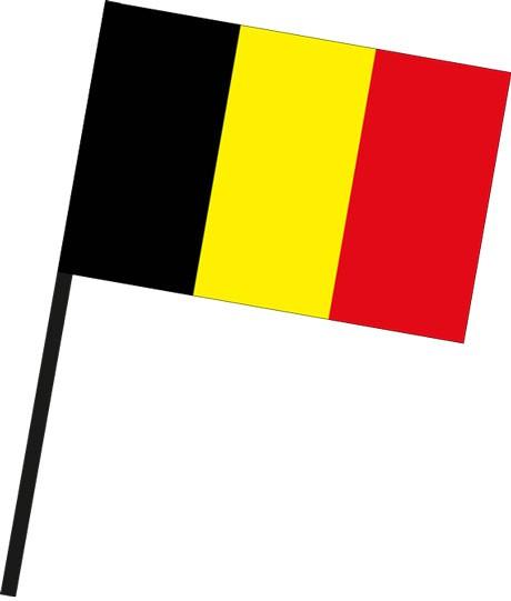 Belgien als Stockfahne