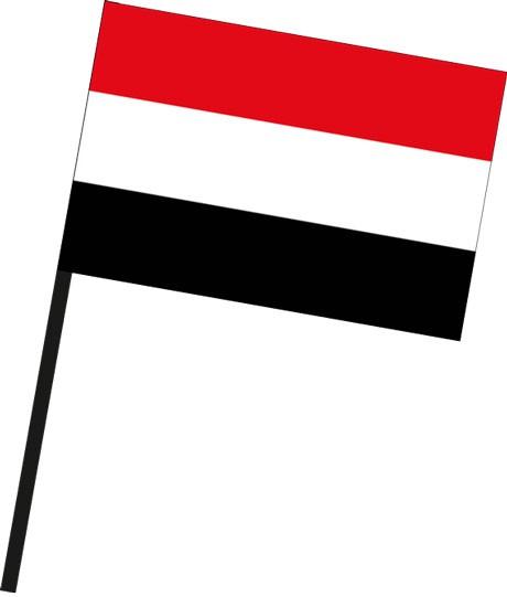 Jemen als Stockfahne