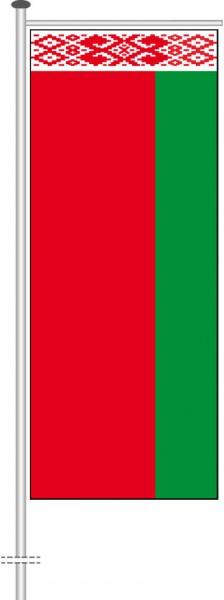 Weissrussland Belarus als Auslegerfahne