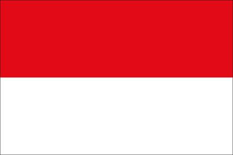 Indonesien als Fanfahne