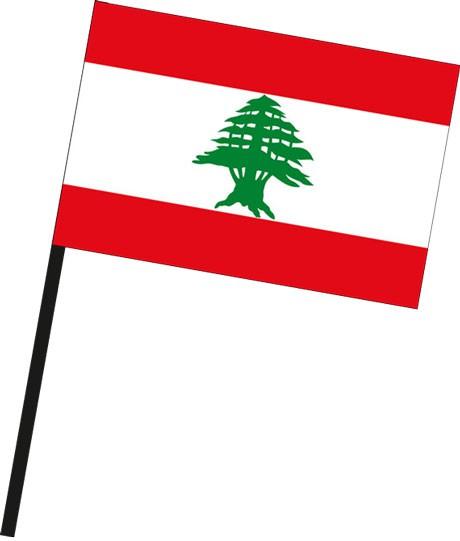 Libanon als Stockfahne