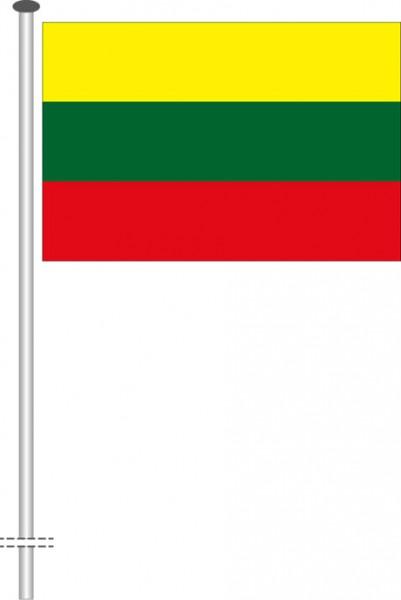 Litauen als Querformatfahne