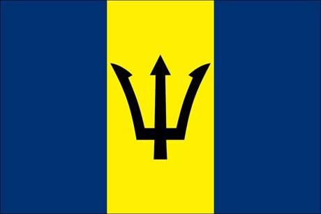 Barbados als Fanfahne