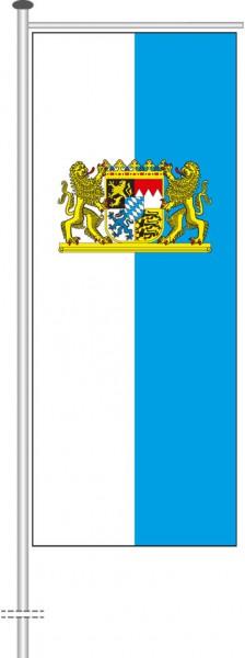 Bayern - Dienstflagge als Auslegerfahne