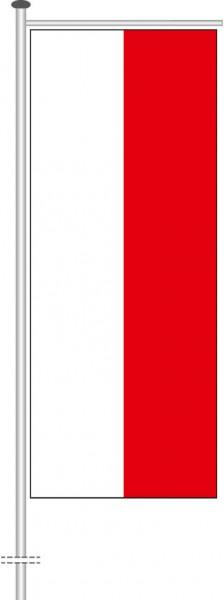 Thüringen - Streifenflagge als Auslegerfahne