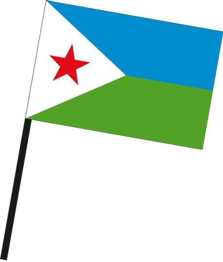Dschibuti als Stockfahne