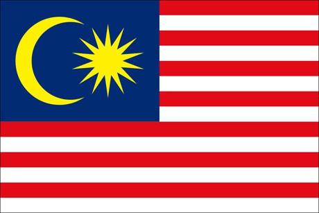 Malaysia als Fanfahne
