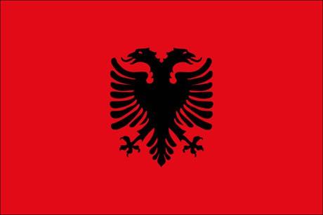 Albanien als Fanfahne
