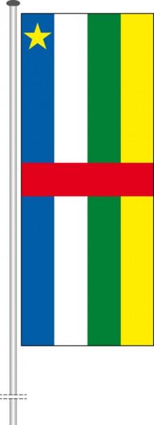 Zentralafrikanische Republik als Hochformatfahne
