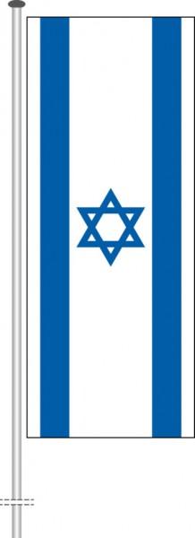 Israel als Hochformatfahne