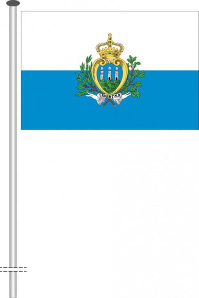 San Marino als Querformatfahne