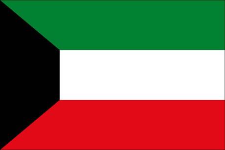 Kuwait als Fanfahne